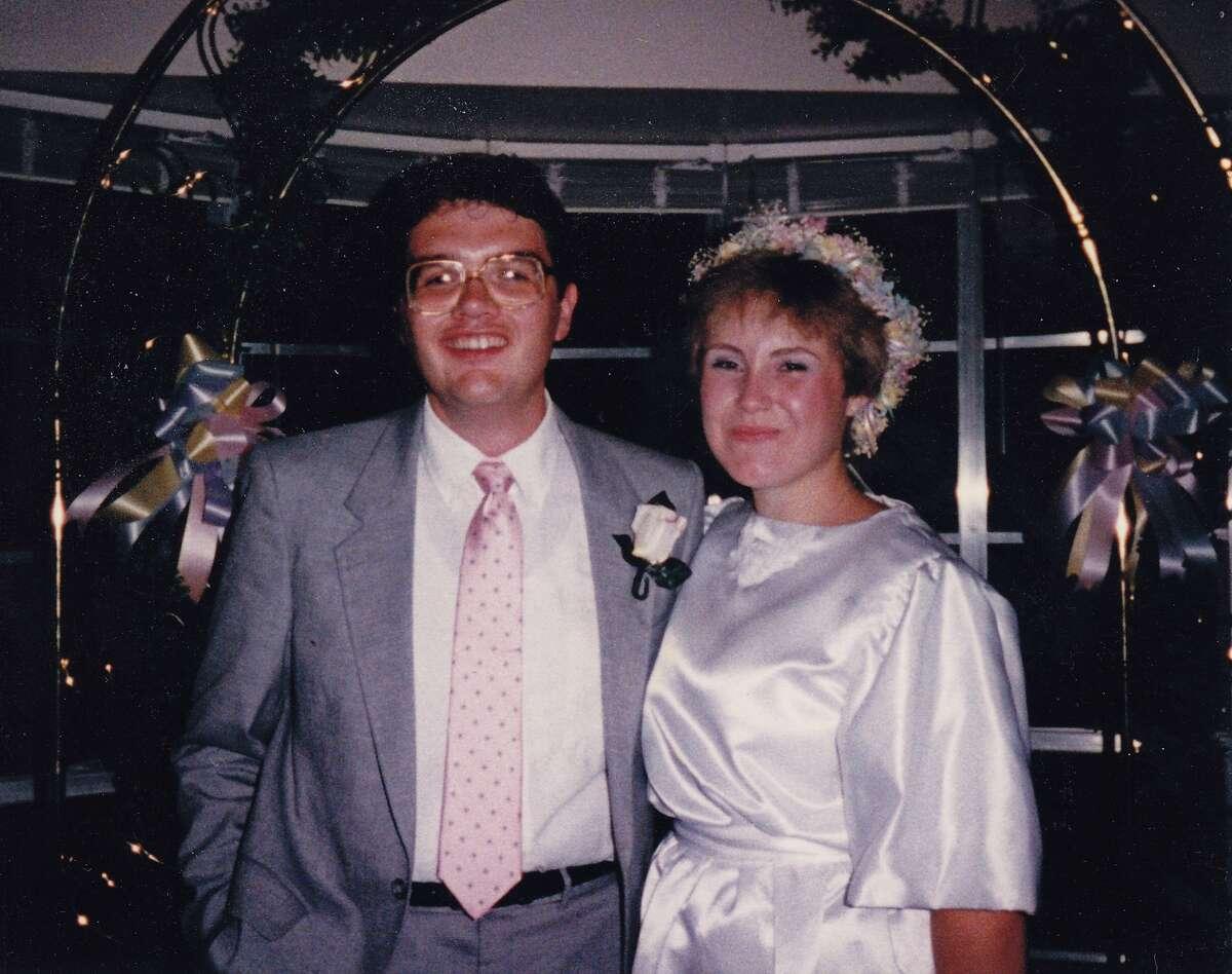 Our wedding day, 1986. The joys of Canada awaited.