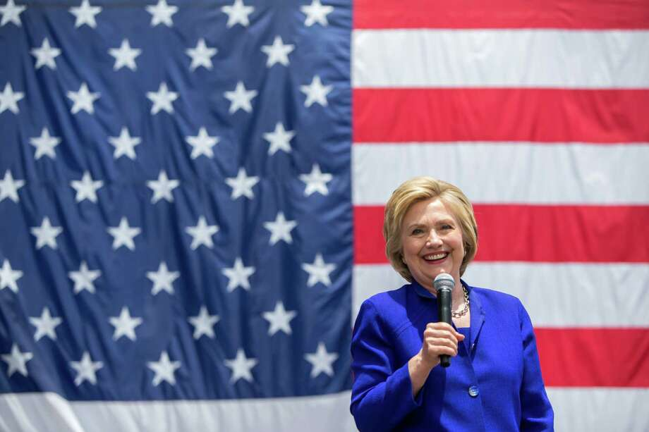 Hillary Clinton, Democratic presidential hopeful, during a campaign appearance at Plaza Mexico, a shopping plaza in Lynwood, Calif., June 6, 2016. (Monica Almeida/The New York Times) Photo: MONICA ALMEIDA, NYT / NYTNS