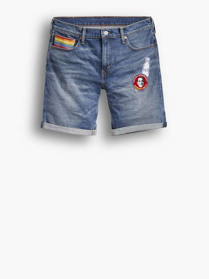 Pieces from the Levi's Gay Pride collection benefiting the Harvey Milk Foundation