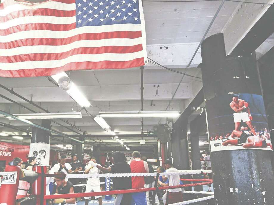 Gleason's Gym, home to 1,200 members, contains a famous photo of Muhammad Ali after he knocked out Sonny Liston in their second fight. Ali trained at the Brooklyn gym before he fought Liston for the first time in 1964. Photo: Frank Franklin II, STF / Copyright 2016 The Associated Pr