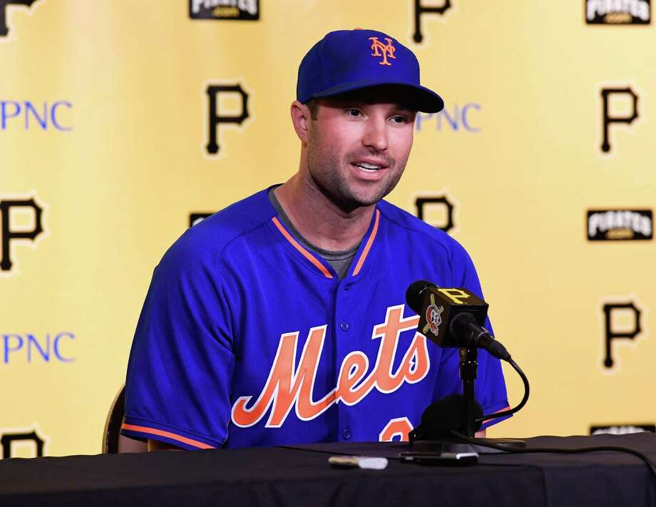 PITTSBURGH, PA - JUNE 06:  Neil Walker #20 of the New York Mets speaks at a press conference about his return to Pittsburgh as a member of the Mets before the game at PNC Park on June 6, 2016 in Pittsburgh, Pennsylvania. (Photo by Justin Berl/Getty Images) ORG XMIT: 607679069 Photo: Justin Berl / 2016 Getty Images