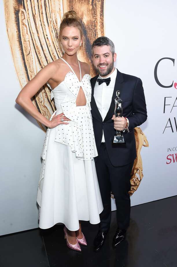 NEW YORK, NY - JUNE 06:  Karlie Kloss (L) and Brandon Maxwell attend the 2016 CFDA Fashion Awards at the Hammerstein Ballroom on June 6, 2016 in New York City.  (Photo by Jamie McCarthy/Getty Images) Photo: Getty Images