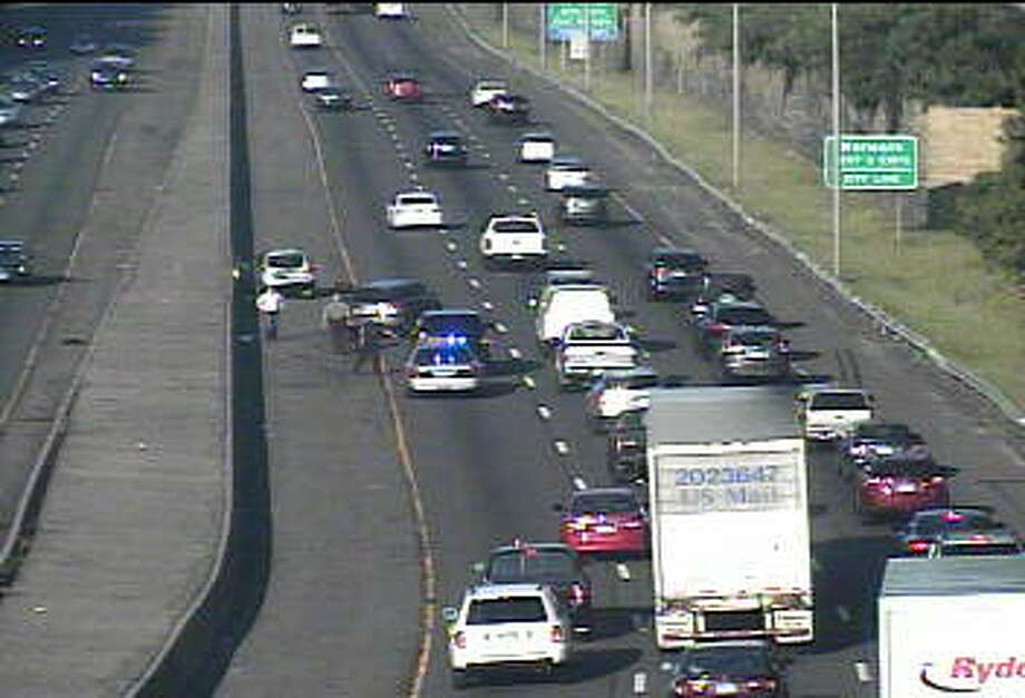 I-95 south in Westport is impacted by a motor vehicle accident Photo: CT DOT