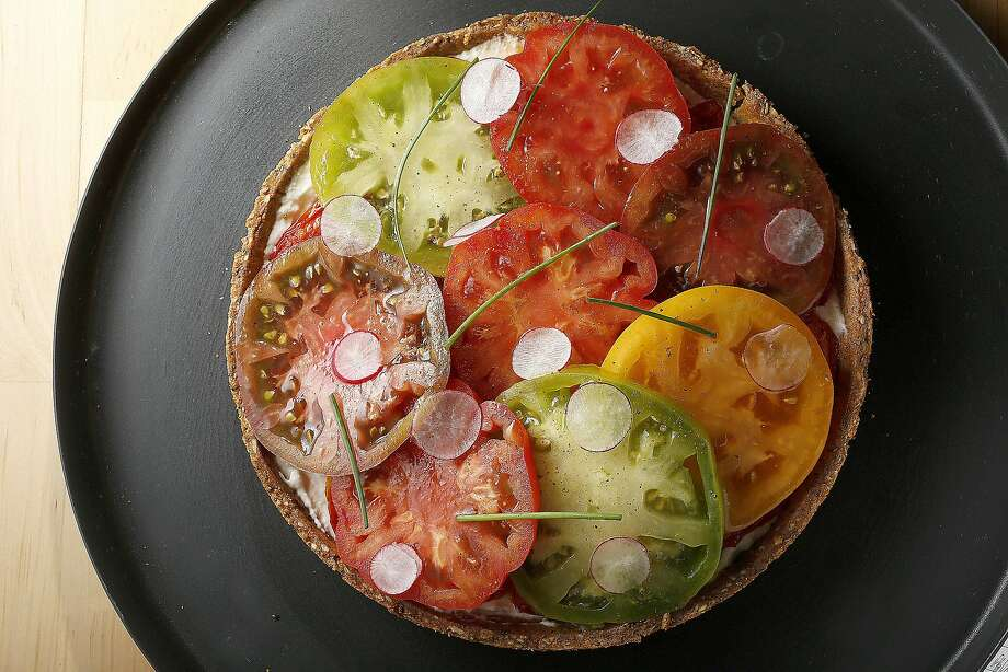 William Werner's Tomato Tart. Photo: Liz Hafalia, The Chronicle