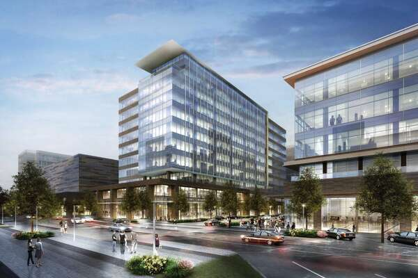 This rendering shows CityPlace in Springwoods Village. A Courtyard by Marriott is expected to open this summer in CityPlace and construction is expected to start in late 2016 on a full-service hotel with an expected completion in 2018.