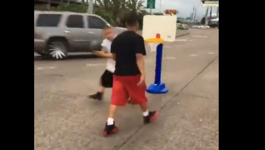This isn't the first time these guys have blocked Houston traffic for fun. Click the gallery to see some of the pranks the guys have pulled on Houston roadways. Photo: Facebook Video Posted By Monsee Cortes
