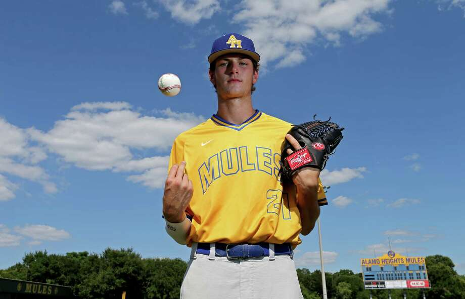 Portrait of Alamo Heights pitcher Forrest Whitley Monday June 7, 2016. Photo: Edward A. Ornelas, Staff / San Antonio Express-News / © 2016 San Antonio Express-News