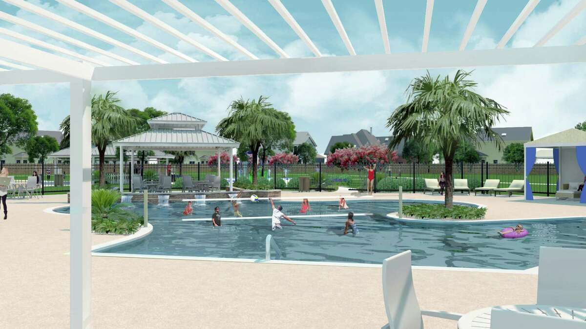 This pool is planned for one of the villages to be built in Lago Mar in Texas City.