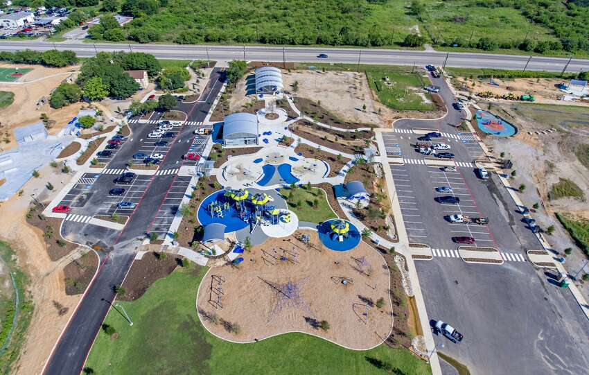 A newly expanded Pearsall Park on the Southwest Side offers the city's largest splash pads and skate parks, an event stage, playground, a fitness challenge zone, sitting areas and a zip line, among other amenities.