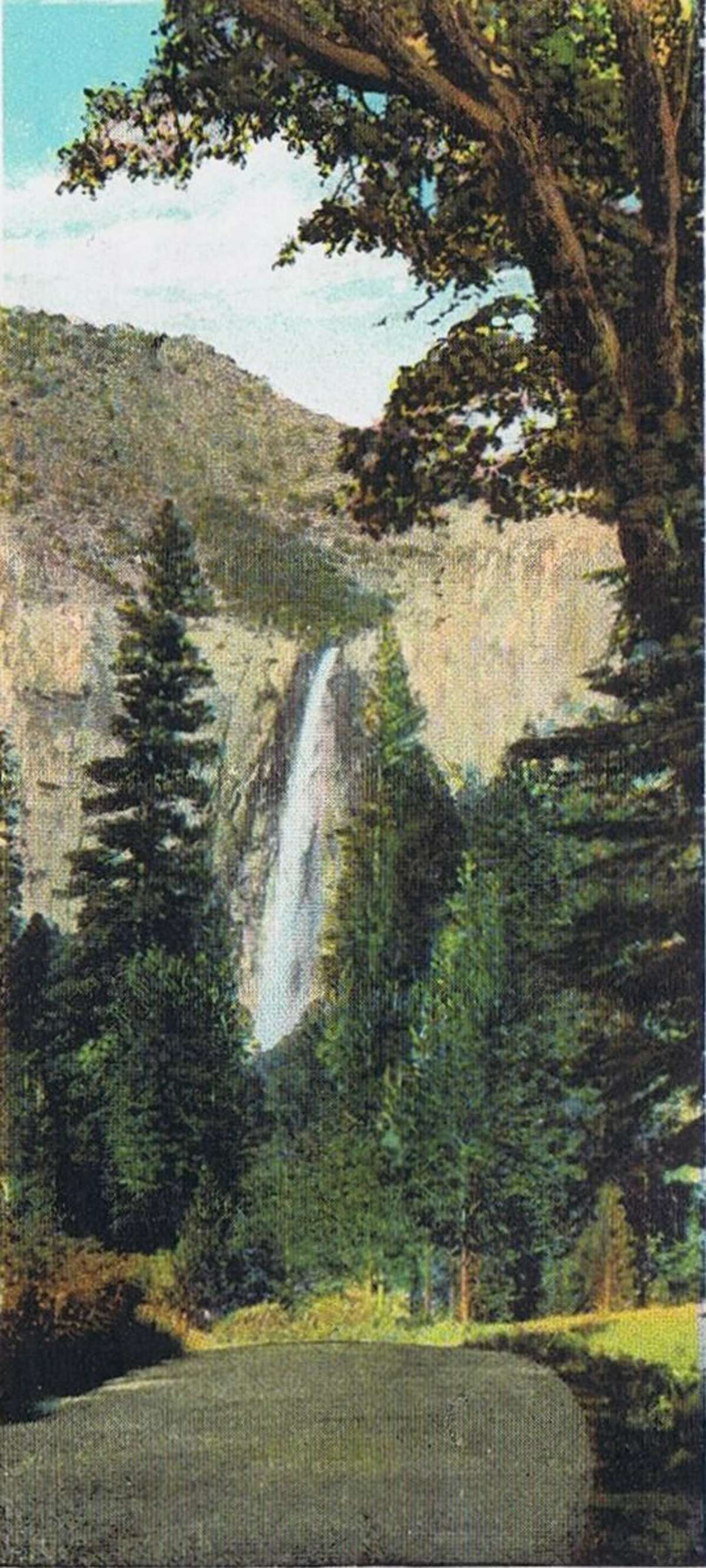 Bridal Veil Falls, Yosemite National Park souvenir brochure from the early 1920's.