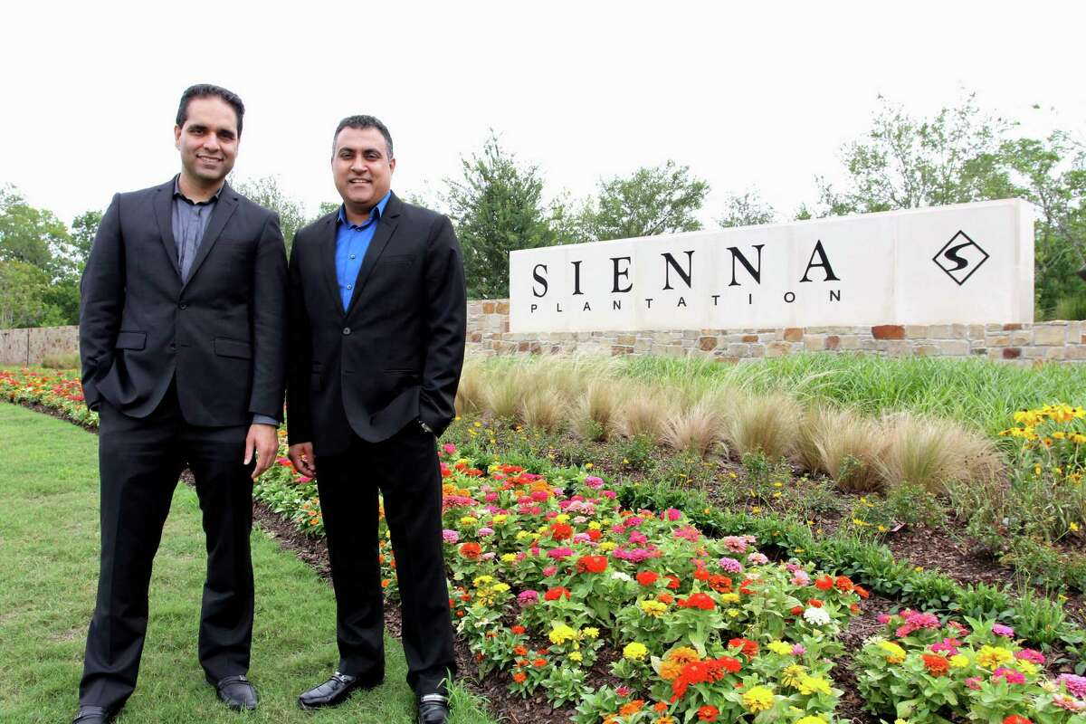 Sonit Seth, left, and his brother Kumal are Realtors with Remax Fine Properties who sell properties in the Sienna Plantation master-planned community in Missouri City.