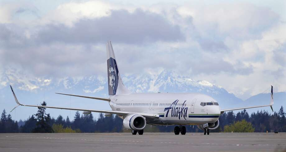 An Alaska Airlines plane taxis after landing, Monday, April 4, 2016, at Seattle-Tacoma International Airport in Seattle. Photo: Ted S. Warren, AP