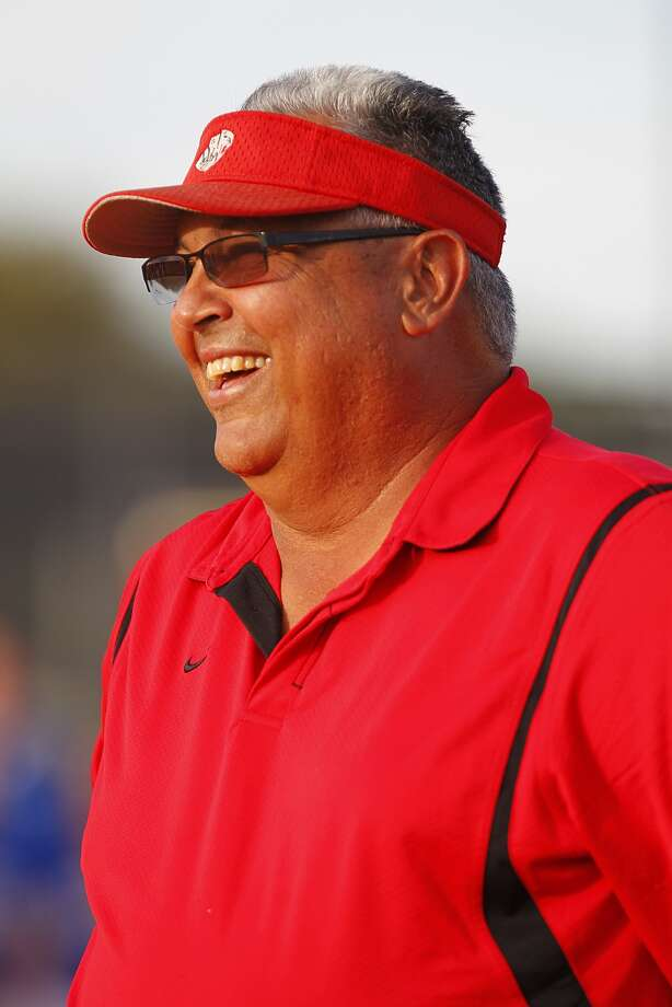 Katy varsity softball coach Kalum Haack recently underwent surgery to relieve nerve pain in his back. Photo: Diana L. Porter, Freelance / © Diana L. Porter