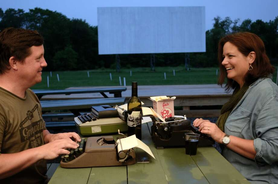 Dwight Grimm and Leigh Van Swall at the Greenville Drive-In. Provided photo