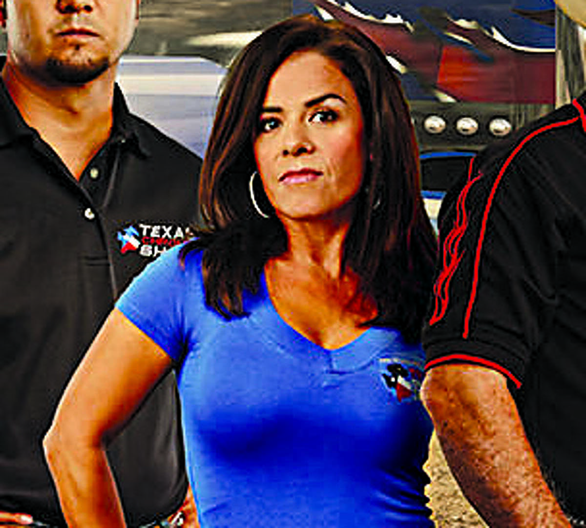 Lorena Mendez, who was featured on the Discovery en Español show, is the owner of Texas Chrome Transport Inc.
