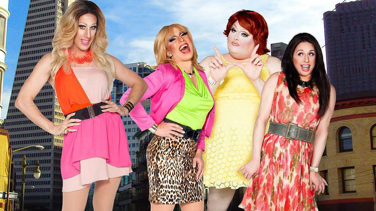 """Sue Casa, D'Arcy Drollinger, Lady Bear and Steven LeMay as the fabulous foursome from """"Sex and the City."""""""