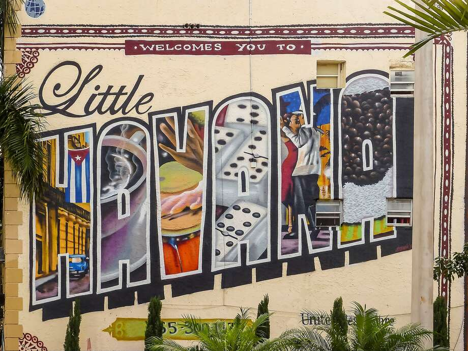 Welcome Mural on Little Havana's Calle Ocho. Photo: AGF, UIG Via Getty Images