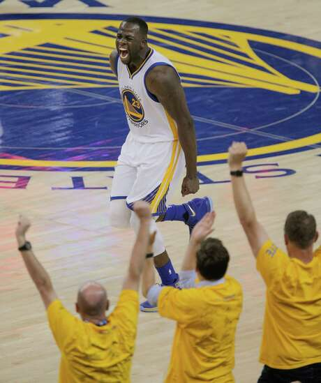 Draymond Green and the Warriors will try to match the intensity they play with in front of home fans when the series moves to Cleveland on Wednesday. Photo: Carlos Avila Gonzalez, Staff / online_yes