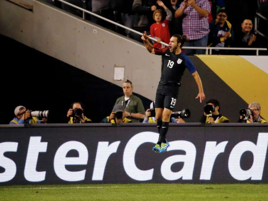 United States' Graham Zusi (19) celebrates after a goal during a Copa America Centenario group A soccer match against Costa Rica at Soldier Field in Chicago, Tuesday, June 7, 2016. (AP Photo/Charles Rex Arbogast) Photo: Charles Rex Arbogast, Associated Press / Copyright 2016 The Associated Press. All rights reserved. This material may not be published, broadcast, rewritten or redistribu