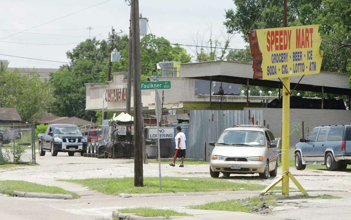 """Harris County's proposed 2-mile """"Southlawn Safety Zone"""" included these businesses near Scott Street and Faulkner Street, which are just east of the crime-plagued Southlawn Palms Apartments."""