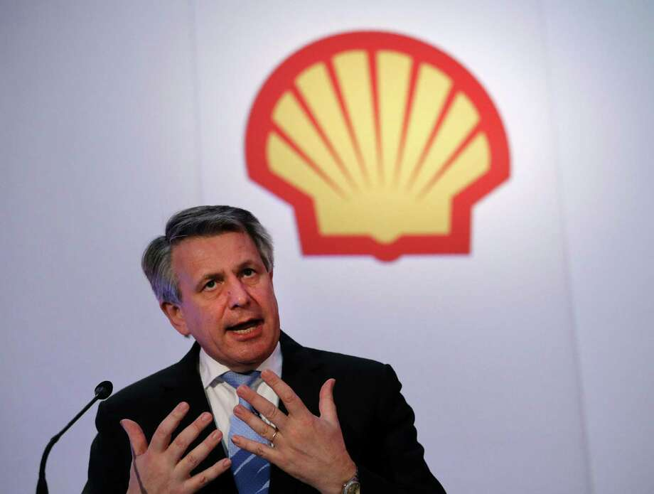 Anglo-Dutch energy giant Shell Chief Executive Officer Ben van Beurden speaks during Shell's Capital Markets Day media presentation in London on June 7, 2016.  Energy giant Royal Dutch Shell on Tuesday increased by 1.0 billion USD the amount it expects to make in cost savings from its mega takeover of smaller British rival BG Group. / AFP PHOTO / ADRIAN DENNISADRIAN DENNIS/AFP/Getty Images Photo: ADRIAN DENNIS, Stringer / AFP or licensors