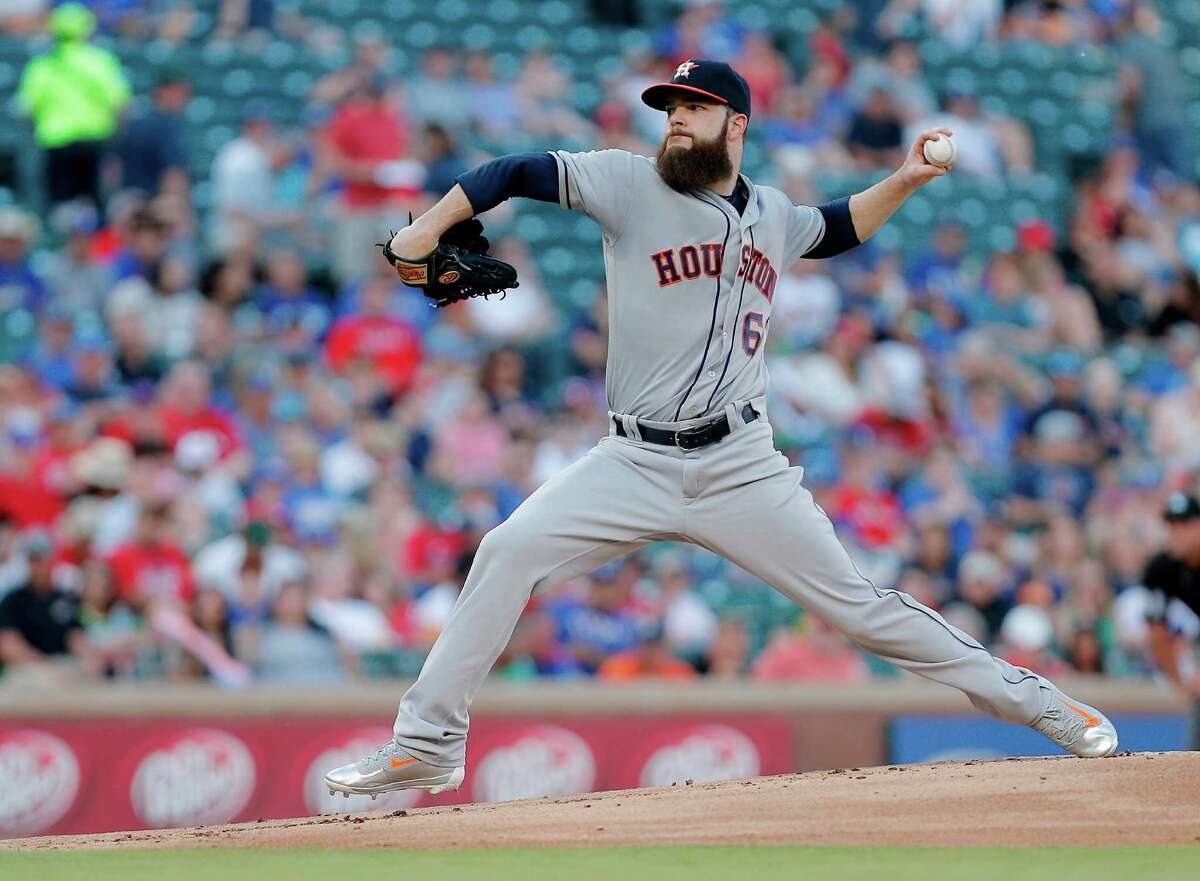Astros ace Dallas Keuchel turned in a solid outing but still suffered his eighth loss of the season.