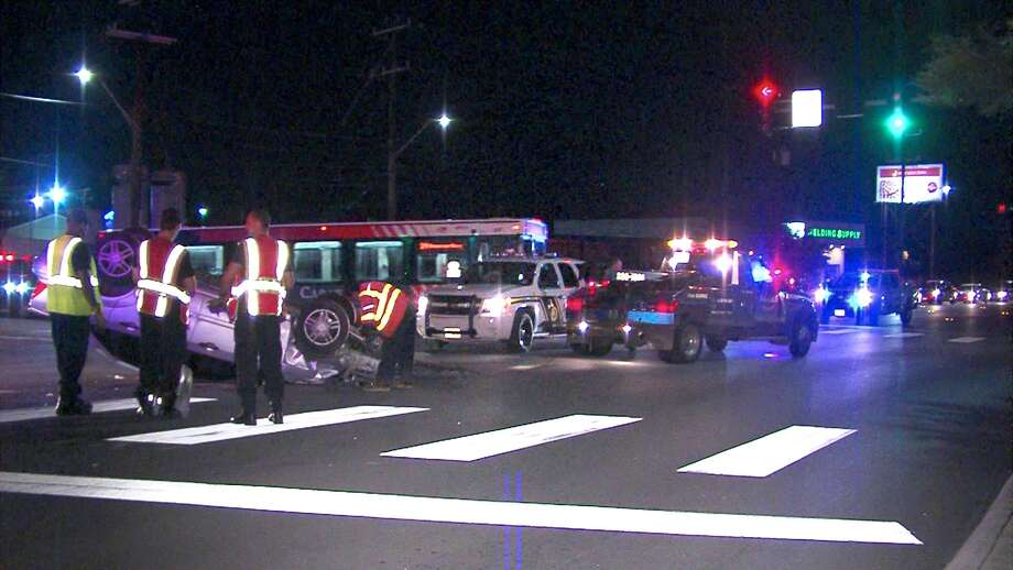 Police say a woman was hospitalized following a crash on the East Side on Tuesday night. Photo: 21 Pro Video
