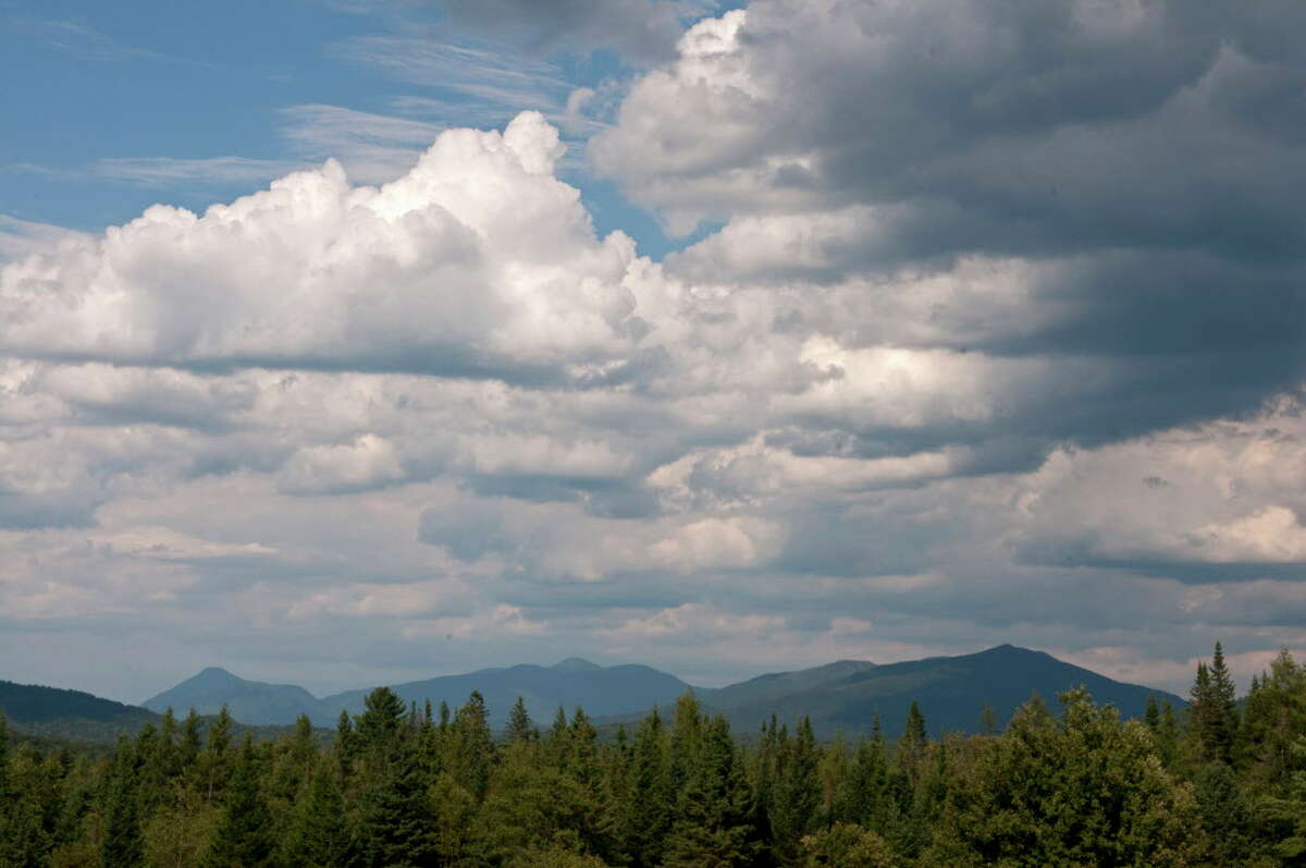 View of some of the Adirondack mountains on Wednesday Aug. 7, 2012 from Newcomb, NY. (Philip Kamrass / Times Union)