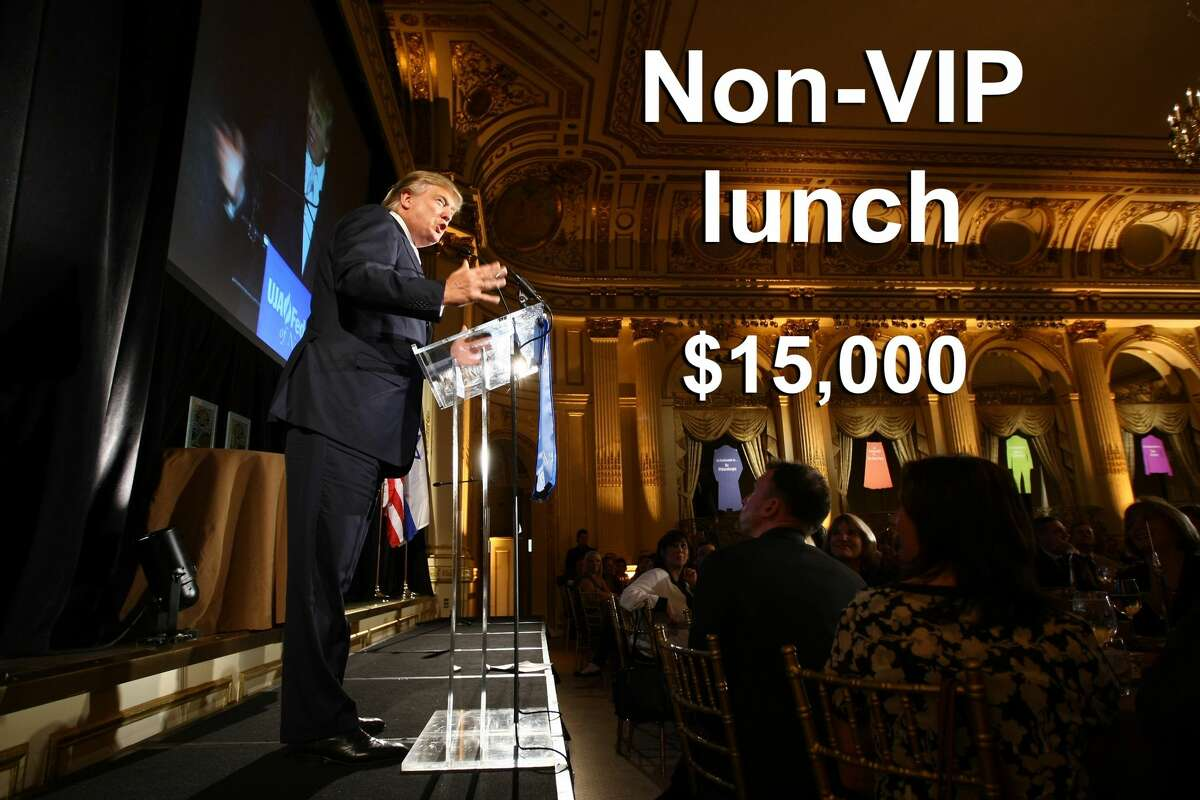 A $15,000 ticket includes two tickets to the luncheon and four tickets to a photo reception