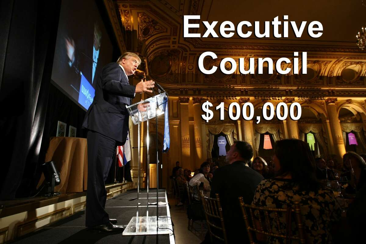 A $100,000 ticket includes 10 tickets to the luncheon, two tickets to a photo reception and a VIP conversation.