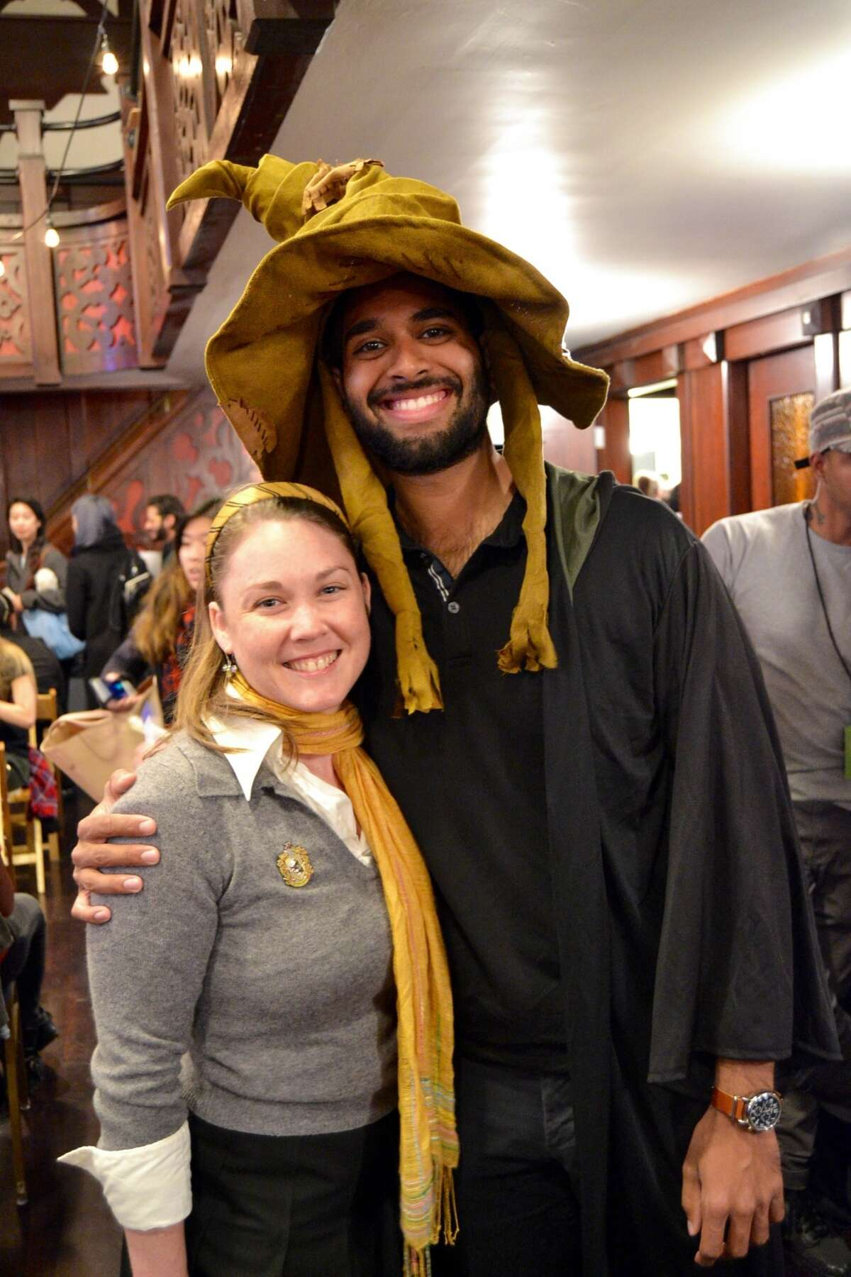 Guests dress up forHarry Potter Trivia at the Swedish American Music Hall in San Francisco on June 7, 2016.