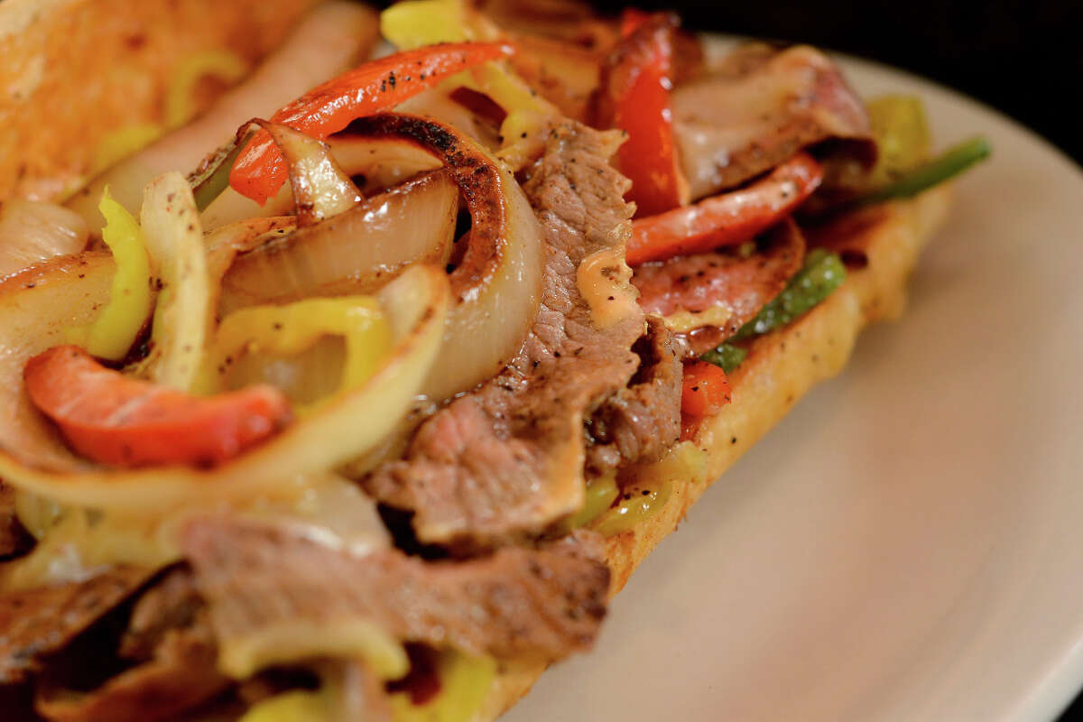 Tex-Mex cheesesteak po'boy from Antone's Famous Po'Boys sandwich shop, which recently remodeled both its San Felipe and TC Jester stores.