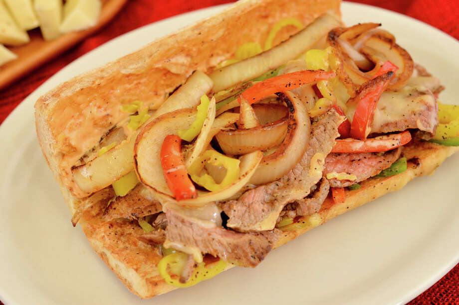 Tex-Mex cheesesteak po'boy from Antone's Famous Po'Boys sandwich shop, which recently remodeled both its San Felipe and TC Jester stores. Photo: Antone's Famous Po'Boys