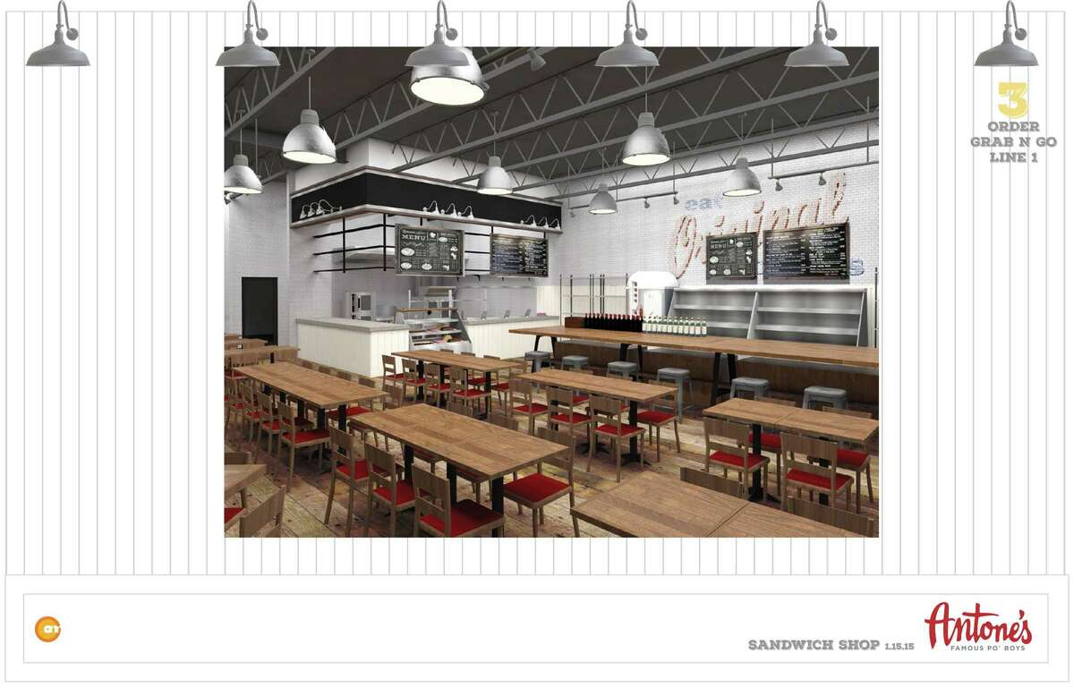 A proposed rendering of a new full service restaurant for Antone's Famous Po'Boys, which could be a model for future restaurant expansion.