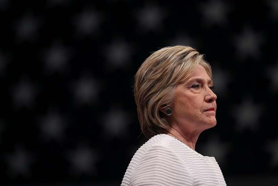 Hillary Clinton Photo: Justin Sullivan, Getty Images
