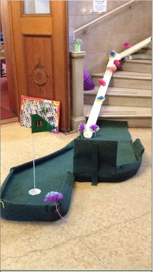"""The Schertz Public Library will be transformed into an 18-hole mini-golf """"putt-putt"""" course. Photo: Photo Courtesy Of Richard Bolton"""
