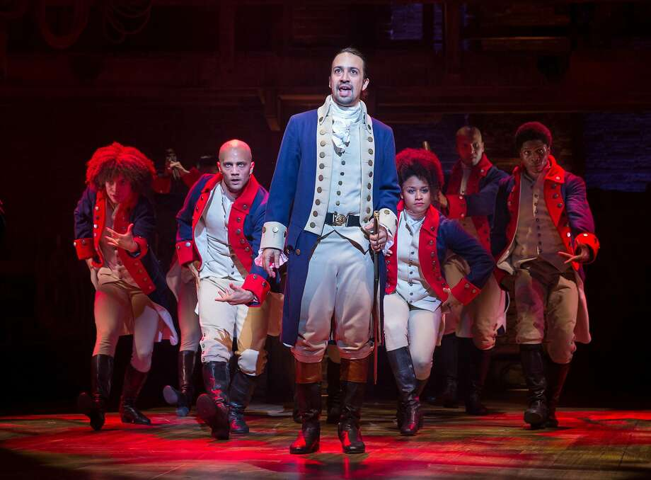 """PHOTO MOVED IN ADVANCE AND NOT FOR USE - ONLINE OR IN PRINT - BEFORE AUG. 16, 2015. -- Lin-Manuel Miranda in the title role of the musical """"Hamilton"""" at the Richard Rodgers Theatre in New York, July 11, 2015. Hip-hop and musical theater seemingly have little overlap, but that is the space in which Miranda lives, the space that birthed �Hamilton,� which opened last week to some of the strongest reviews in years. (Sara Krulwich/The New York Times) Photo: Sara Krulwich, NYT"""