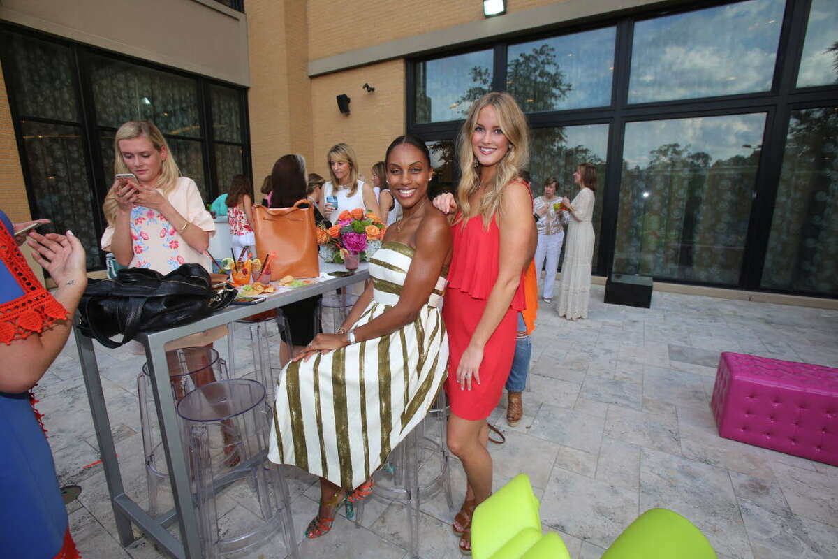 Kara Smith and Amy Stephens at TOOTSIES' patio party benefiting the Texas Lyme Disease Association.