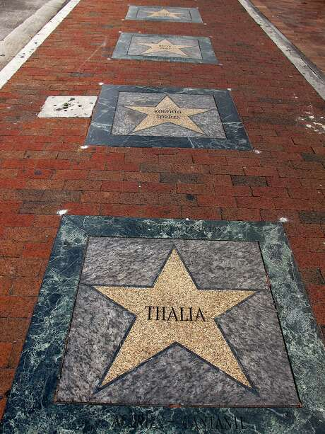 The Latin walk of Fame along Calle Ocho (Eighth Street) in Little Havana. Photo: Janis Cooke Newman, Special To The Chronicle