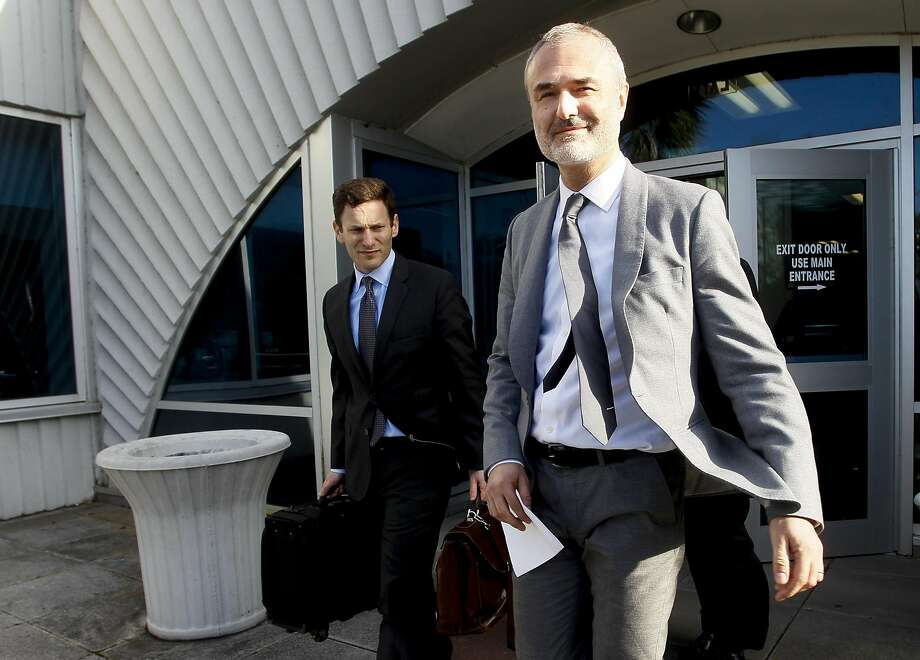 Nick Denton, founder of Gawker, leaves the courthouse after a jury returned its decision Monday, March 21, 2016, in St. Petersburg, Fla. A jury has hit Gawker Media with $15 million in punitive damages and its owner with $10 million, adding to the $115 million it awarded last week for publishing a sex video of Hulk Hogan. (Dirk Shadd/The Tampa Bay Times via AP)  TAMPA OUT; CITRUS COUNTY OUT; PORT CHARLOTTE OUT; BROOKSVILLE HERNANDO TODAY OUT; MANDATORY CREDIT Photo: Dirk Shadd, AP