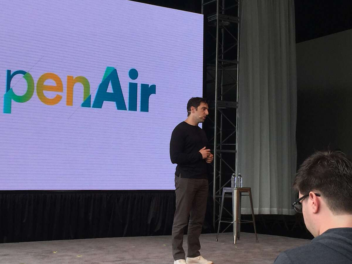 Airbnb CEO Brian Chesky speaks at the company's annual OpenAir technical conference in San Francisco on Wednesday, June 8, 2016.