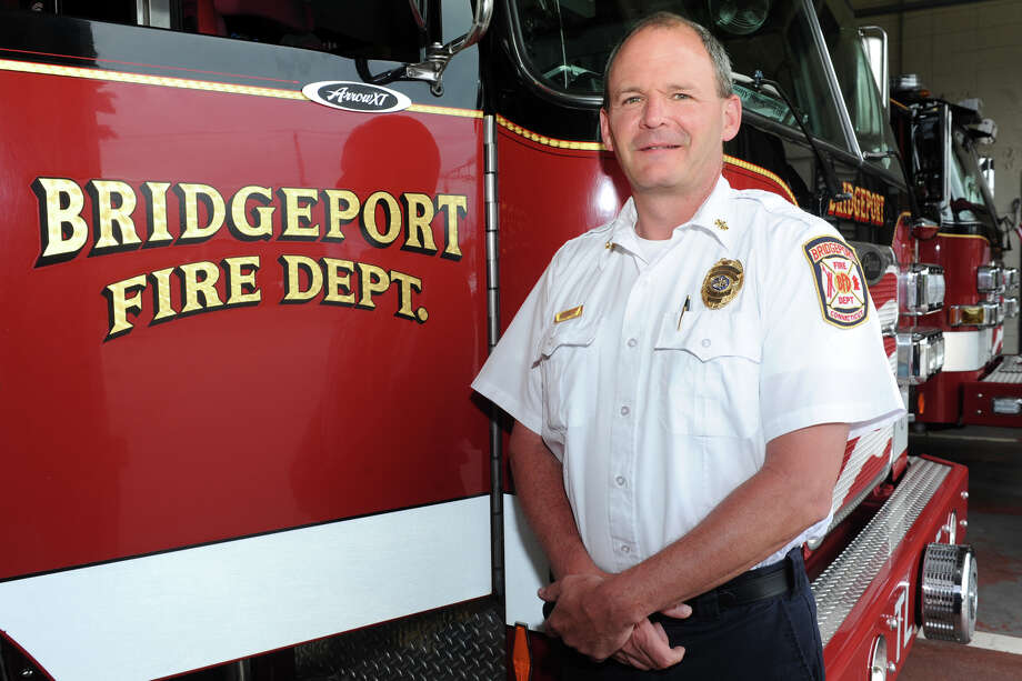 Richard Thode has been named provisional Fire Chief of the Bridgeport Fire Department, June 8, 2016. Photo: Ned Gerard / Hearst Connecticut Media / Connecticut Post