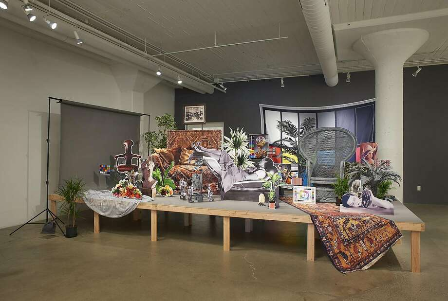 �Neutral Calibration Studies (Ornament + Crime),� a mixed-media installation by Stephanie Syjuco at Catharine Clark Gallery Photo: J.W. White/Phocasso, Courtesy Of Catharine Clark Gallery