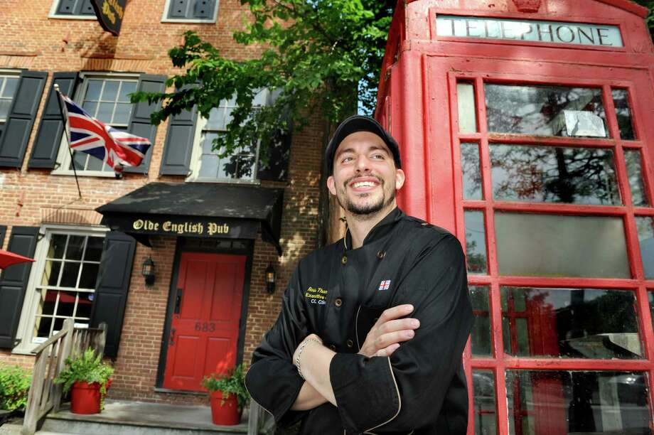 Head chef Ross Thompson on Thursday, June 2, 2016, at the Olde English Pub in Albany, N.Y.(Cindy Schultz / Times Union) Photo: Cindy Schultz / Albany Times Union