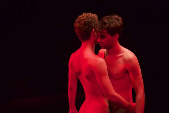 (Theo &go):Theo (Geoffrey Couet, left) and Hugo (Francois Nambot) meet at a sex club in the electrifying �Paris 05:59: Theo &go.�