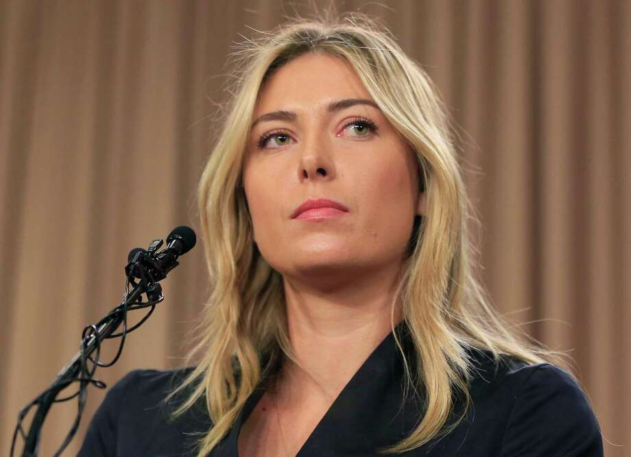 FILE - This is a Monday, March 7, 2016 file photo showing tennis star Maria Sharapova speakings about her failed drug test at the Australia Open during a news conference in Los Angeles. Sharapova has been suspended for two years by the International Tennis Federation for testing positive for meldonium at the Australian Open. The ruling, announced Wednesday, June 8, 2016 can be appealed to the Court of Arbitration for Sport. (AP Photo/Damian Dovarganes, File) ORG XMIT: LON138 Photo: Damian Dovarganes / Copyright 2016 The Associated Press. All rights reserved. This m