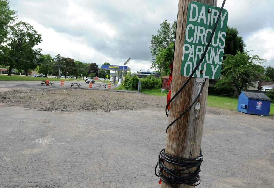Former site of Dairy Circus at 178 Sacandaga Road on Wednesday June 8, 2016 in Scotia, N.Y. The owner of the Dairy Circus will not rebuild beloved landmark that was destroyed by fire. (Michael P. Farrell/Times Union) Photo: Michael P. Farrell / 40036912A