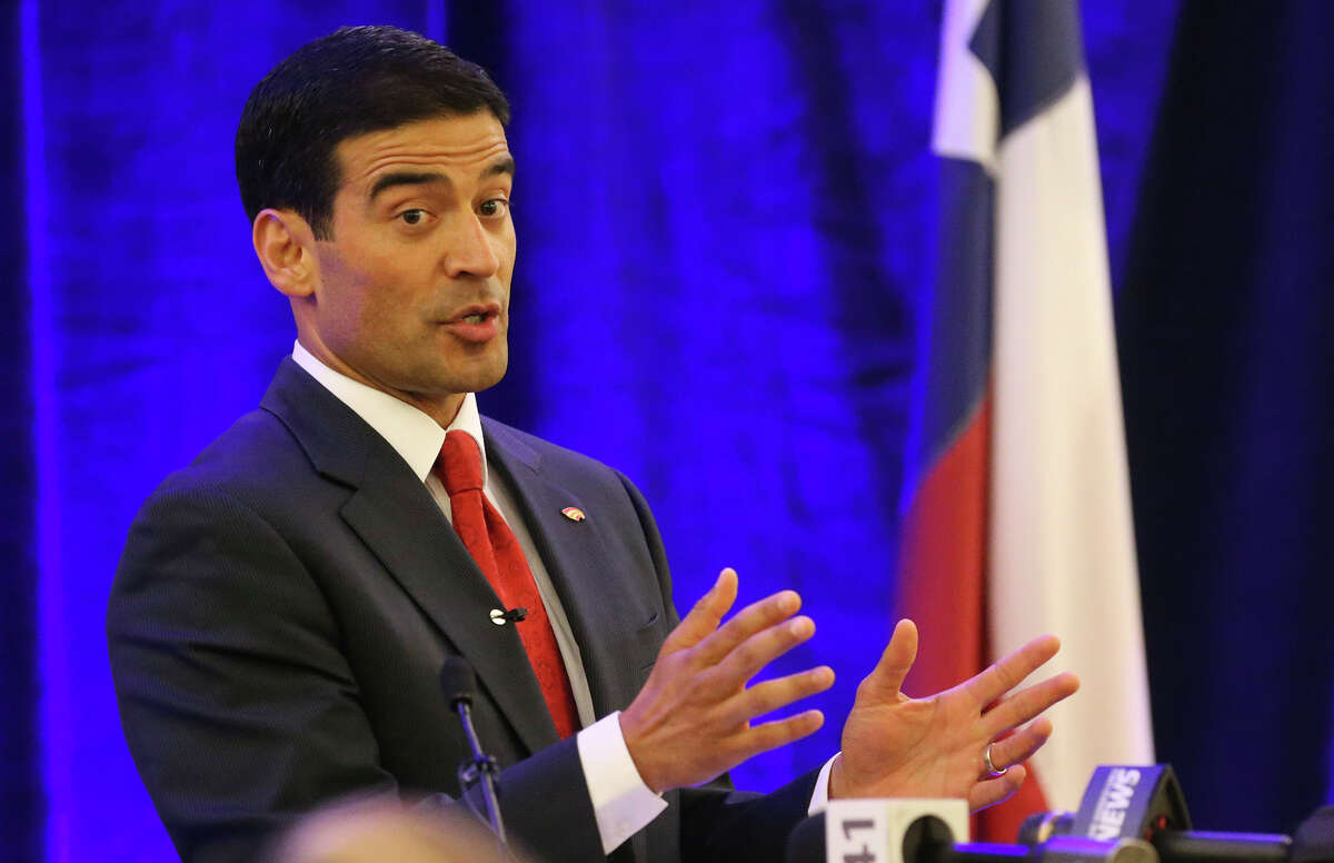 """Bexar County District Attorney Nicholas """"Nico"""" LaHood presents his inaugural State of the District Attorney address Wednesday June 8, 2016 at the Embassy Suites Riverwalk Hotel. LaHood gave an insider's perspective of the challenges and issues he and his staff have faced on a day-to-day basis. The event was sponsored by the San Antonio Hispanic Chamber of Commerce."""