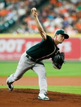 HOUSTON, TX - JUNE 05:  Sonny Gray #54 of the Oakland Athletics pitches in the first inning against the Houston Astros at Minute Maid Park on June 5, 2016 in Houston, Texas.  (Photo by Bob Levey/Getty Images)