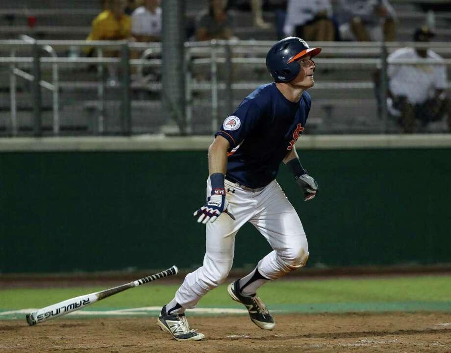 Conner Capel hit .456 this season for Seven Lakes. Photo: Tim Warner, Freelance / Houston Chronicle